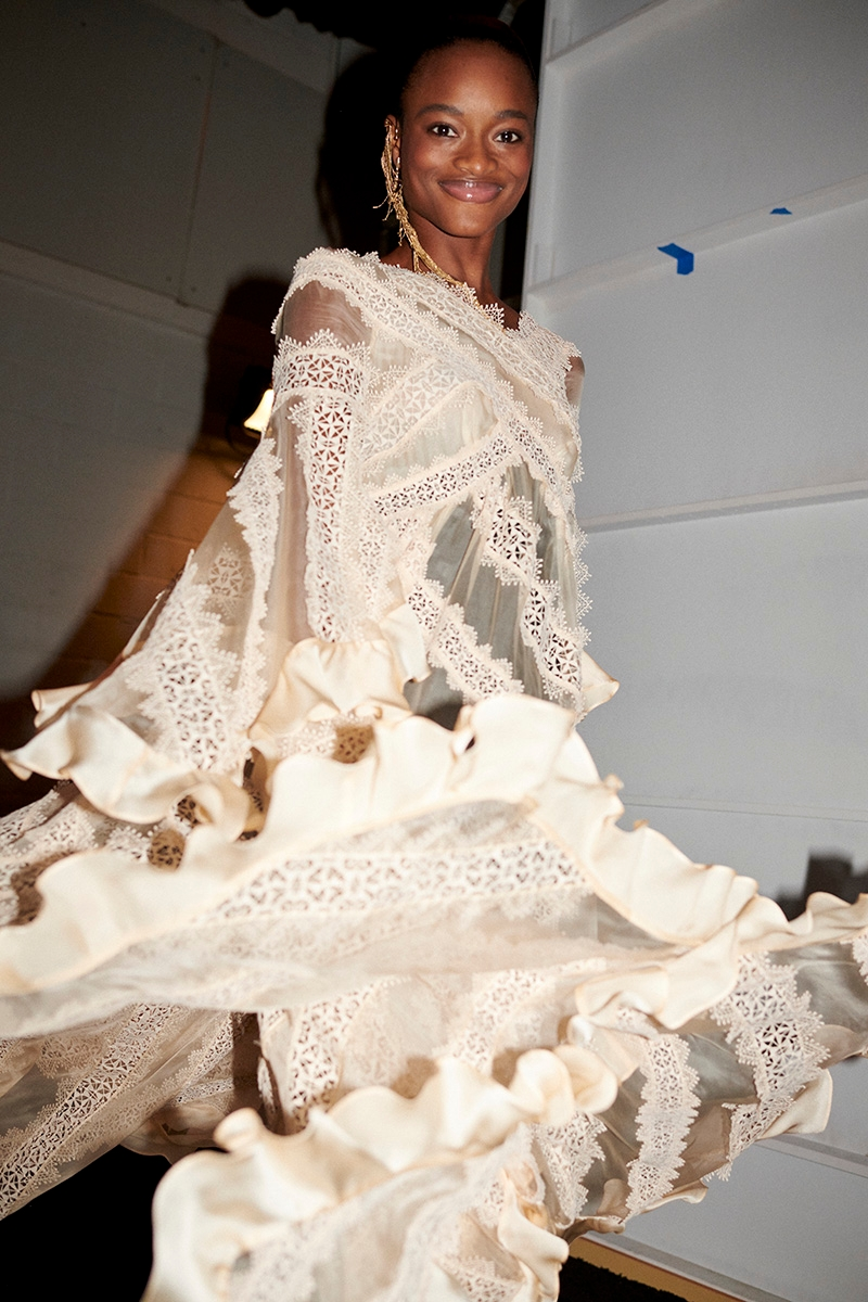 Backstage at our Fall 2020 Ready to Wear show, Ladybeetle