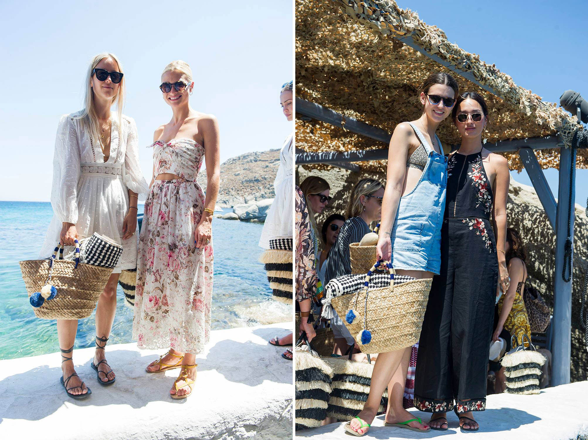Charlotte Groeneveld, Pandora Skyes, Kerstin Weng and Nicole Warne at our lunch in Mykonos