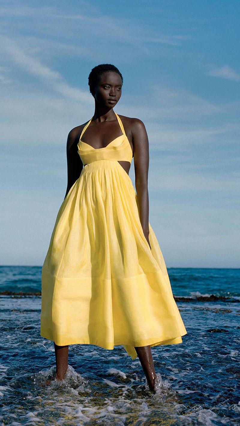 The Botanica Bralette Gown for MyTheresa