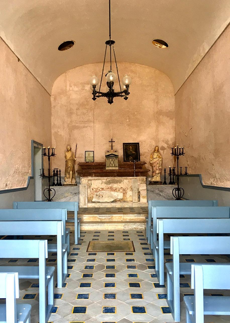 The interior of a local church
