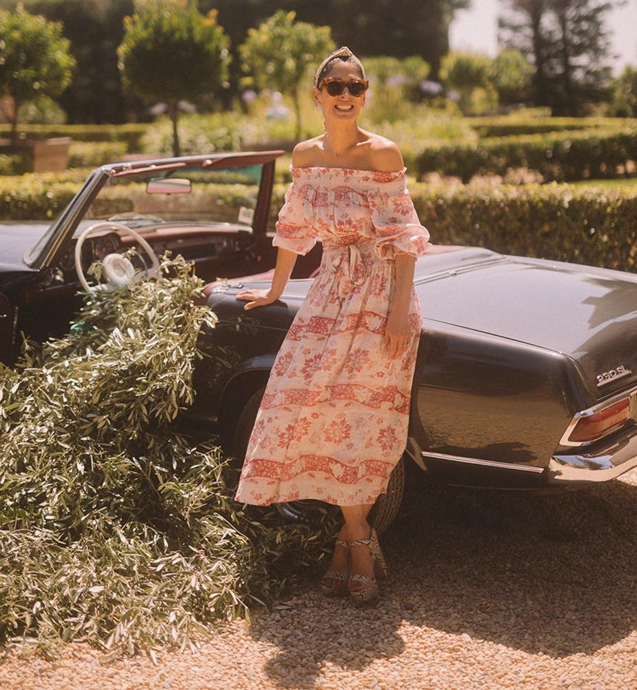 Athena Calderone in the Bayou Washed Long Dress