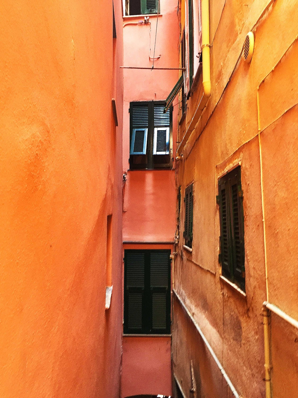 The vibrant orange buildings of Vernazza