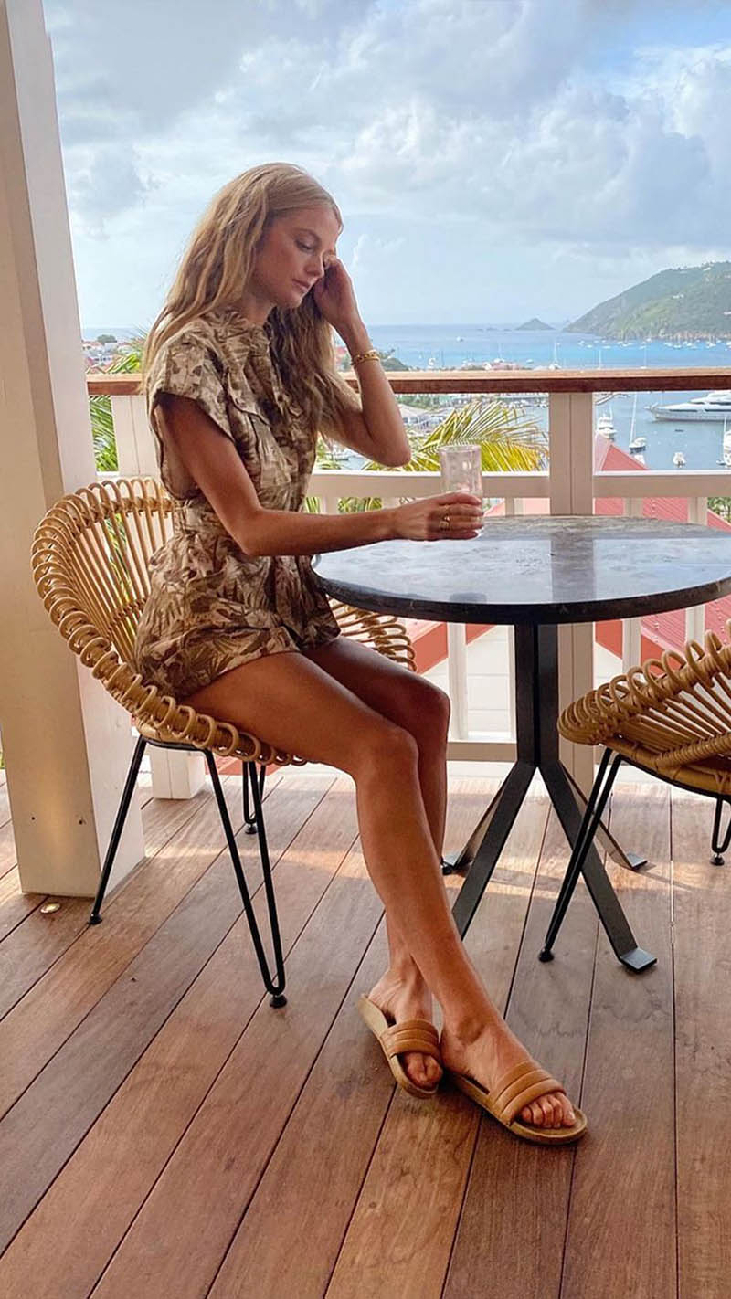 Kate Bock in the Brighton Cuffed Playsuit