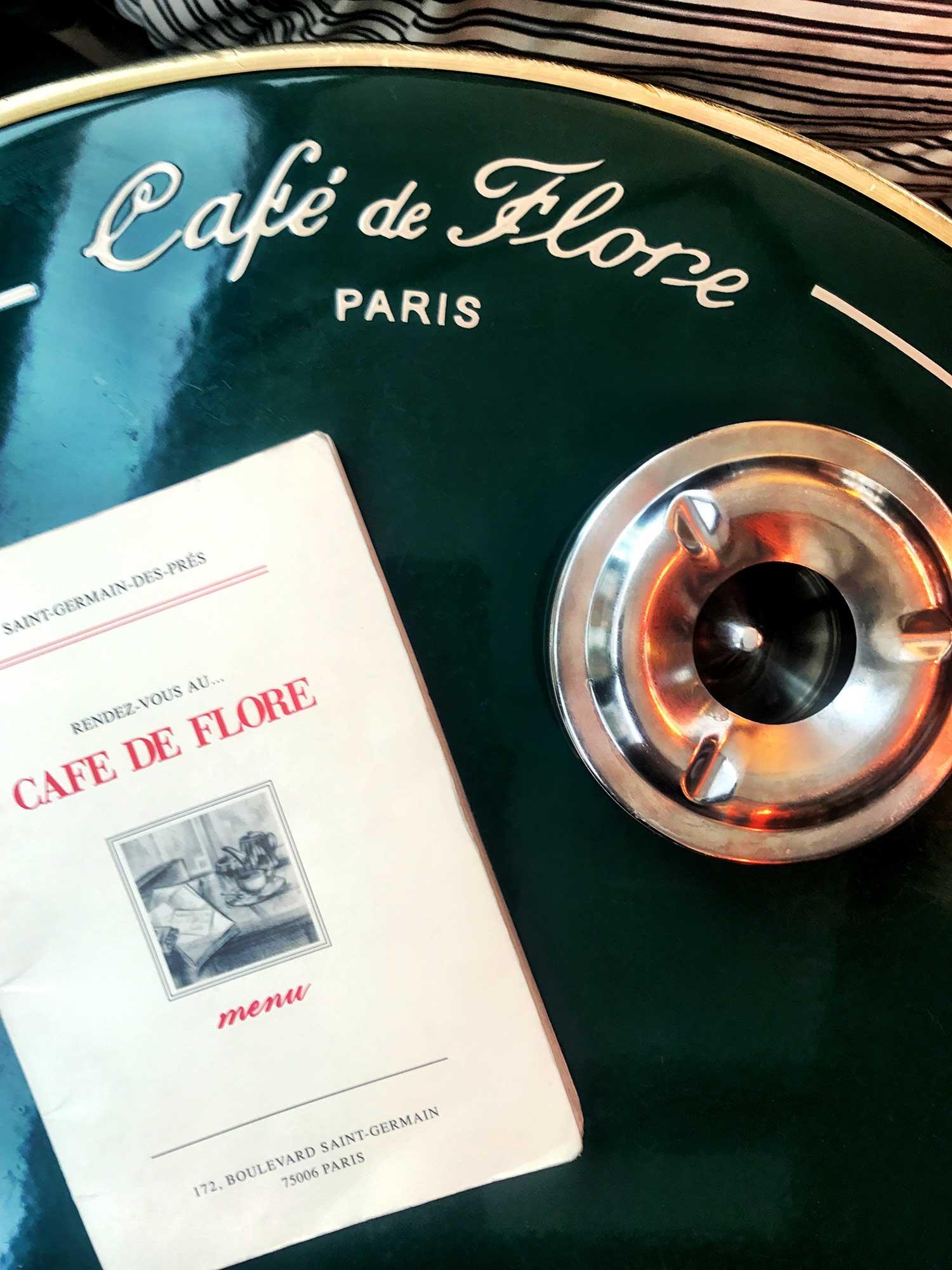 The menu at Café de Flore. December 2018