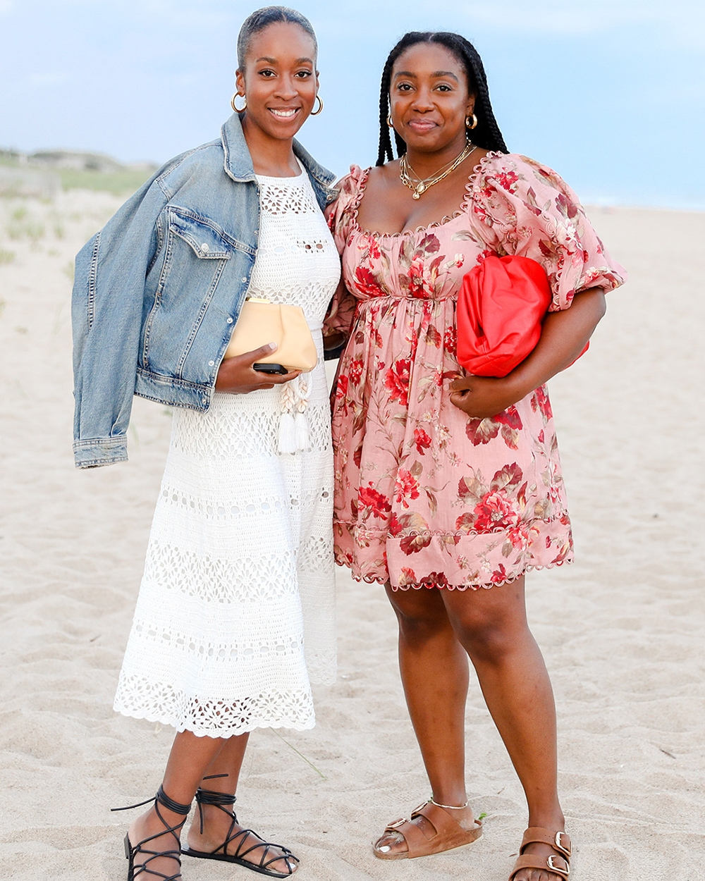 Chrissy and Lindsday at our Hamptons Summer Dinner