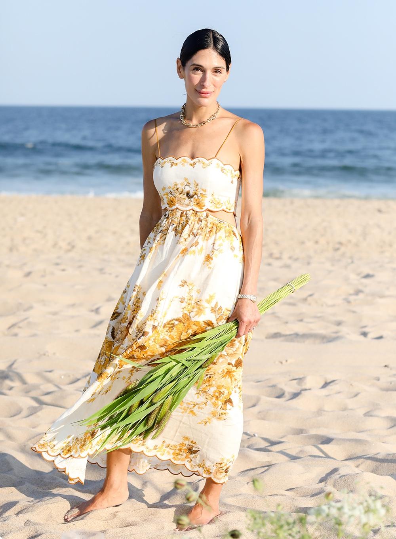Athena Calderone in the Hamptons