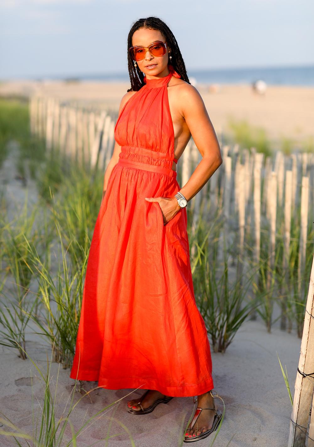 Sai De Silva in the Hamptons with Zimmermann