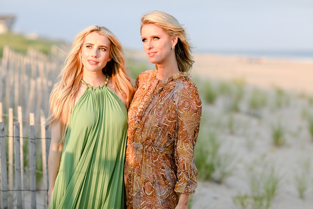 Emma Roberts & Nicky Hilton in the Hamptons with Zimmermann