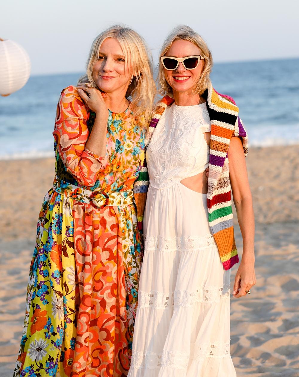 Laura Brown & Naomi Watts on the beach
