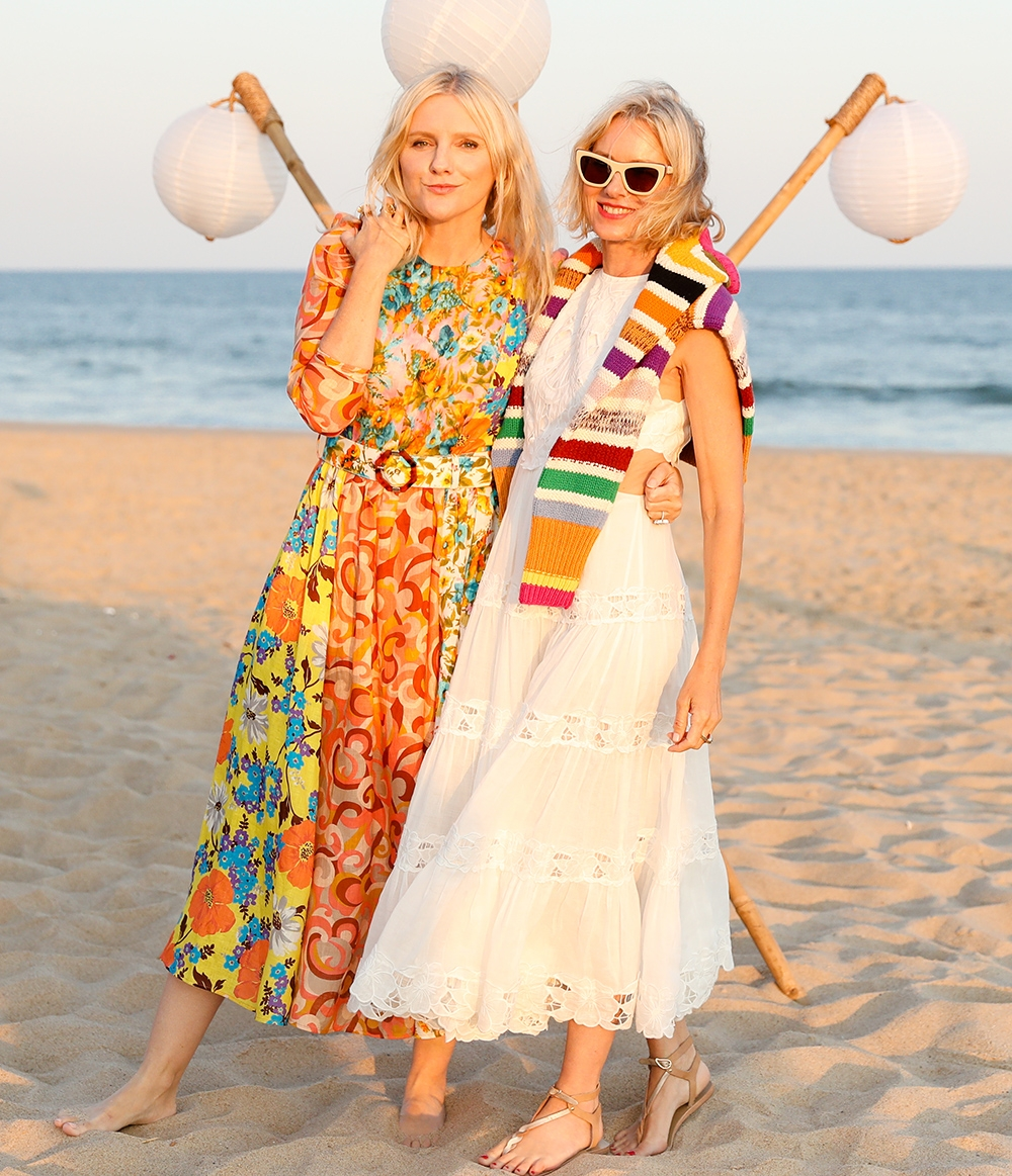 Laura Brown and Naomi Watts at our Hamptons Summer Dinner