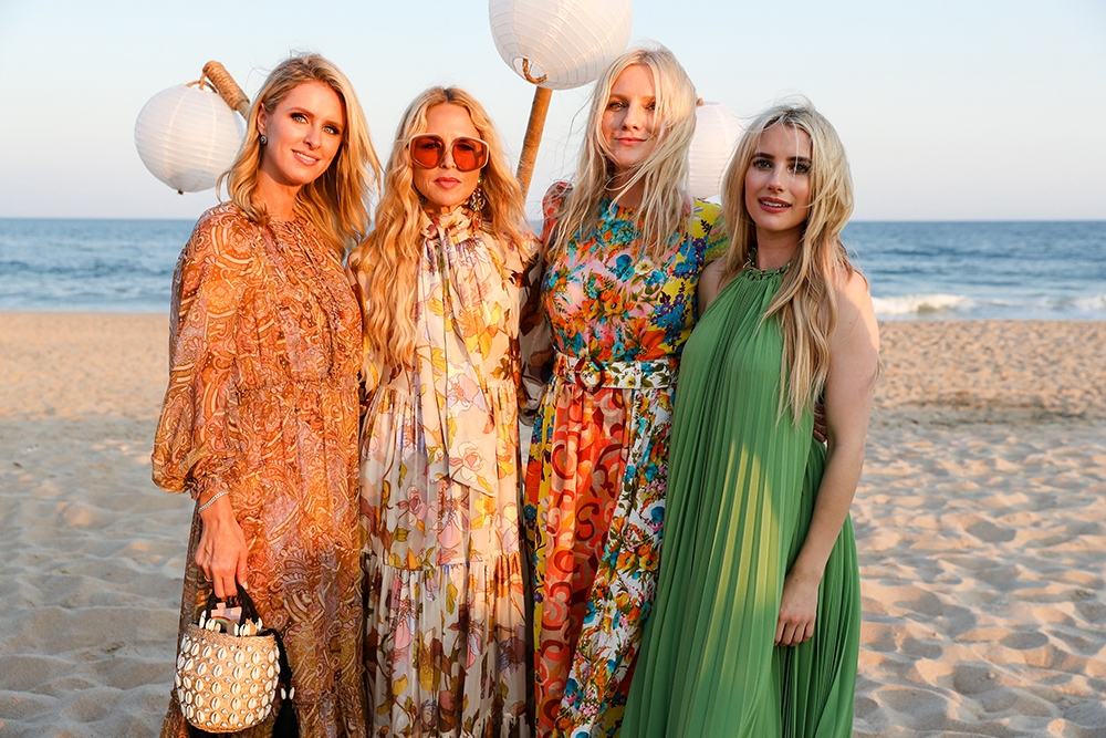 Nicky Hilton, Rachel Zoe, Laura Brown and Emma Roberts at our Hamptons Summer Dinner