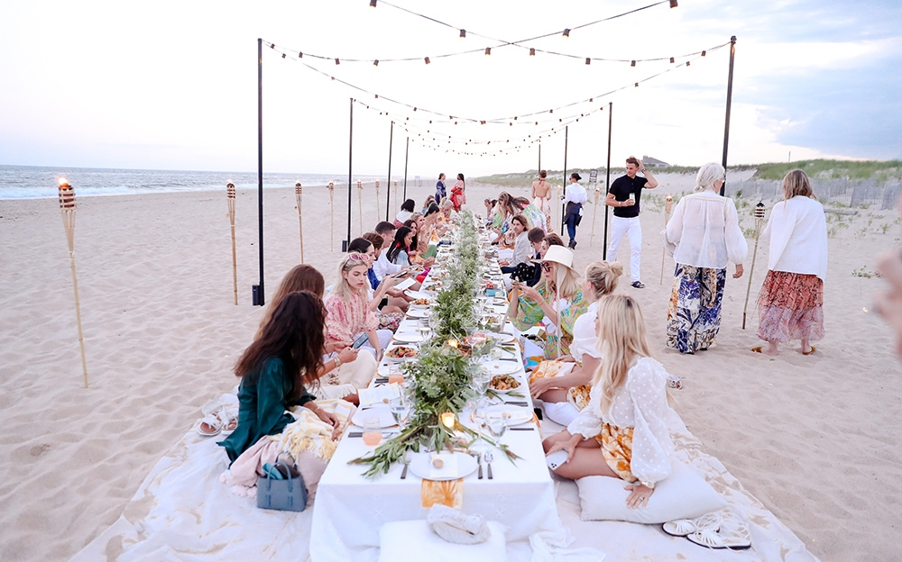Our dinner set up in the Hamptons