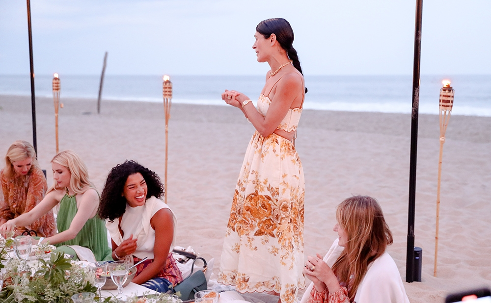Athena Calderone at our Hamptons Summer Dinner