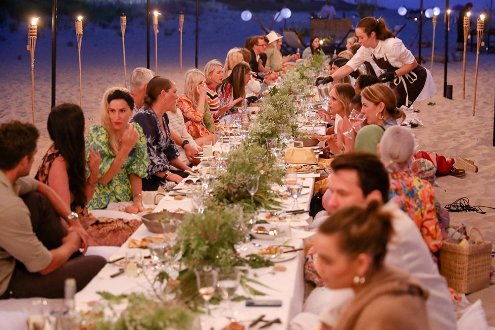 Our close friends at our Hamptons Summer Dinner