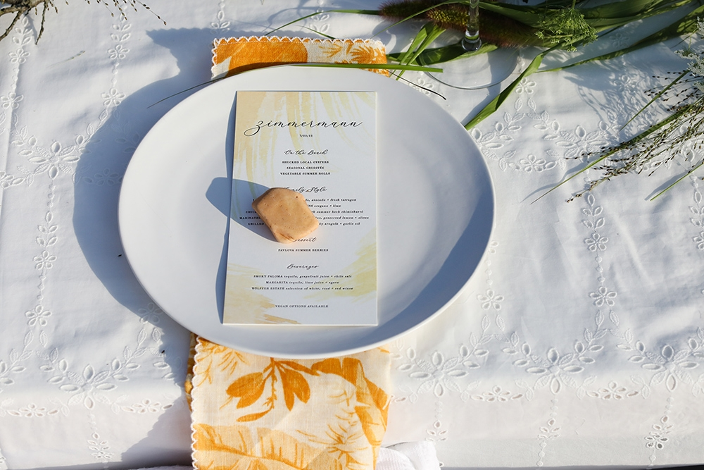 Place settings by Athena Calderone