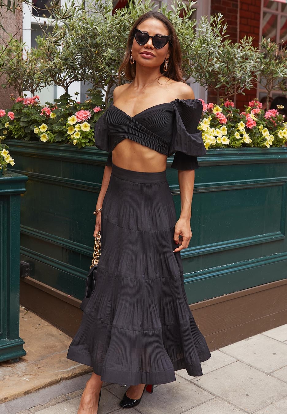 Emma Weymouth in the Pleated Bodice and Midi Skirt