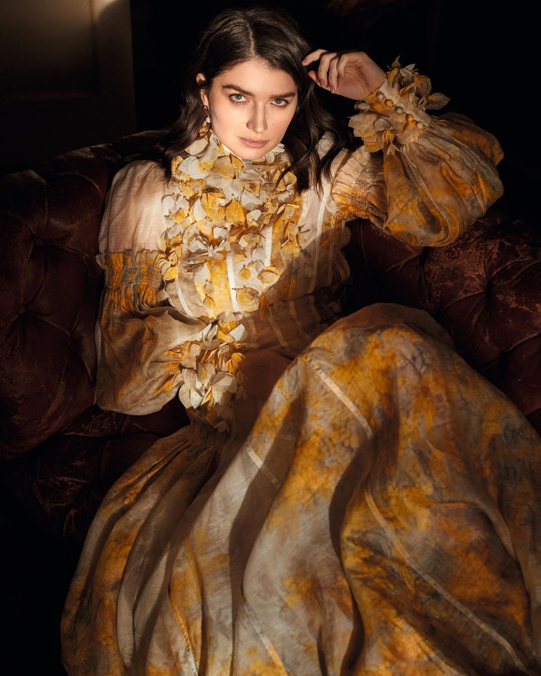 Eve Hewson wears the Botanica Wattle Gown for Town & Country
