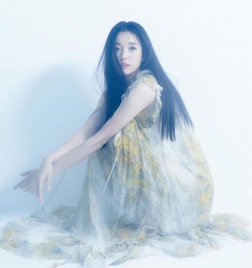 Han Hyo-Joo wears the Botanica Wattle Midi Dress for Allure Korea