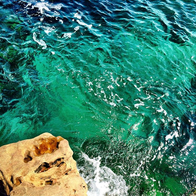 The clear ocean at Palm Beach