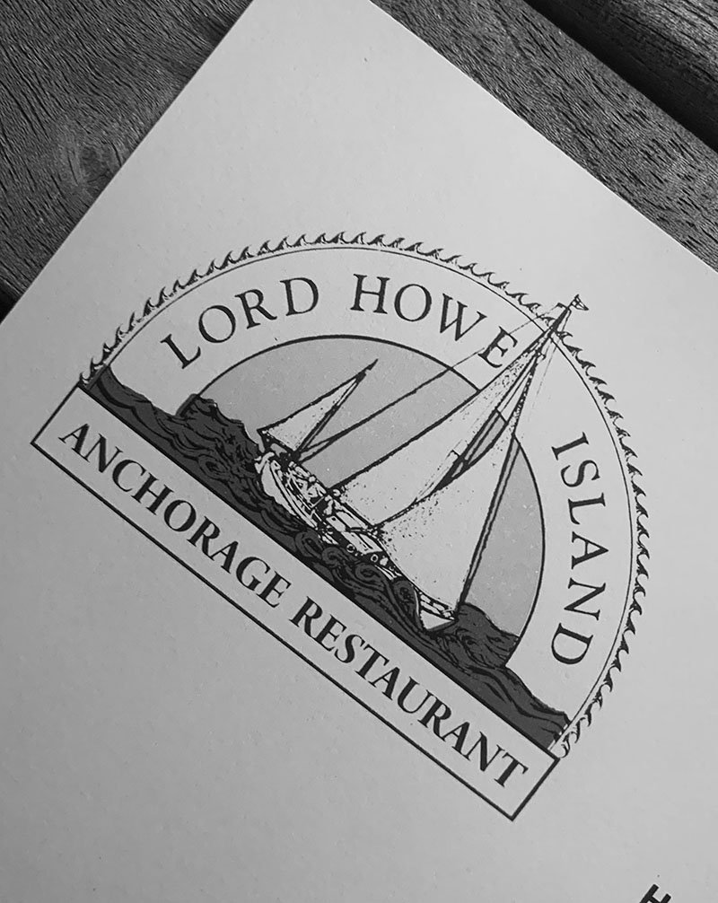 The Menu for Lord Howe Island Anchorage Restaurant