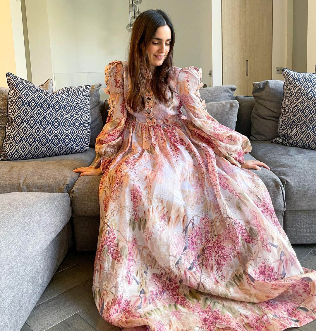 Jessica Diner in the Botanica Butterfly Gown