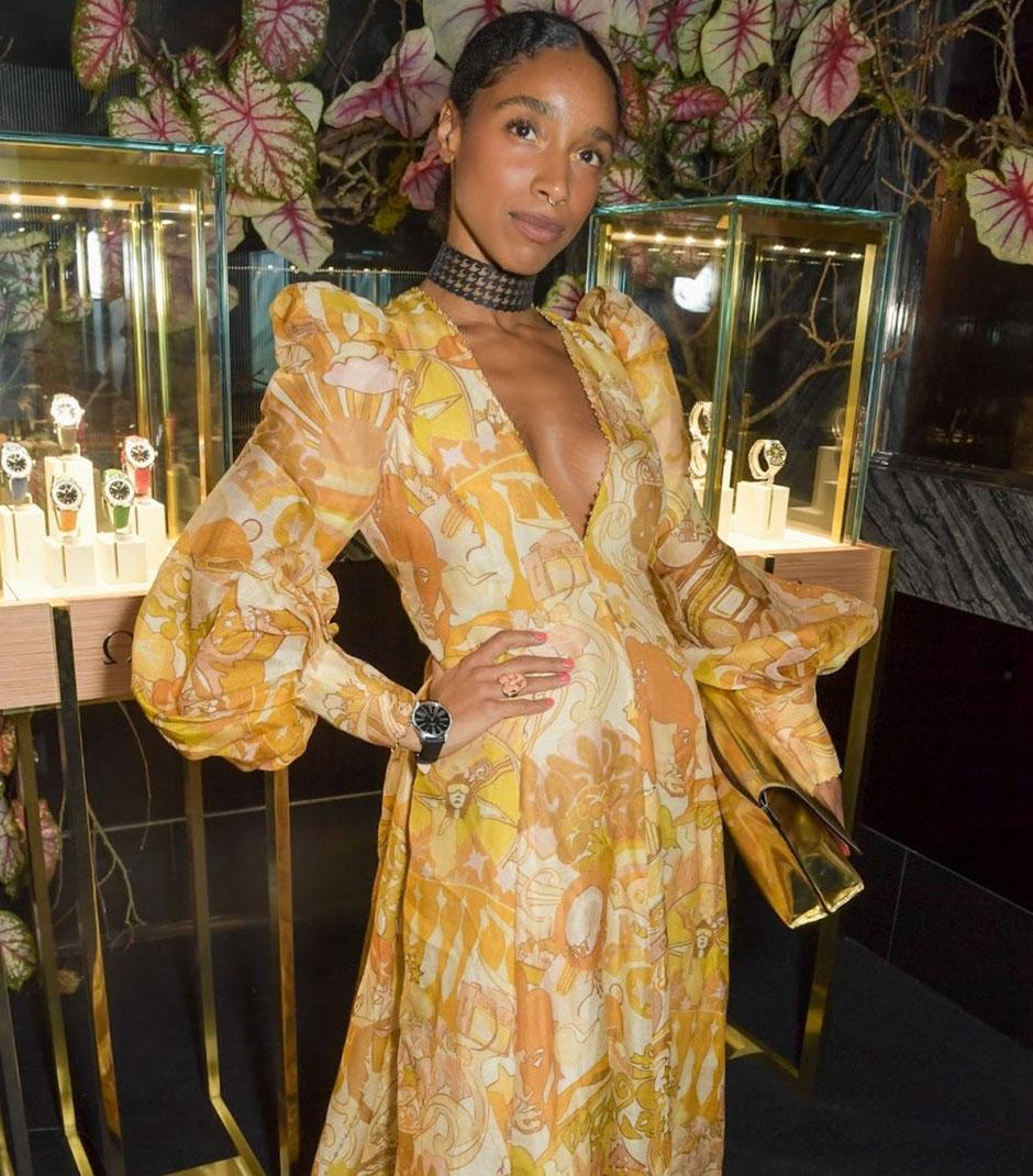 Lianne La Havas in the Tempo Honey Collage Gown