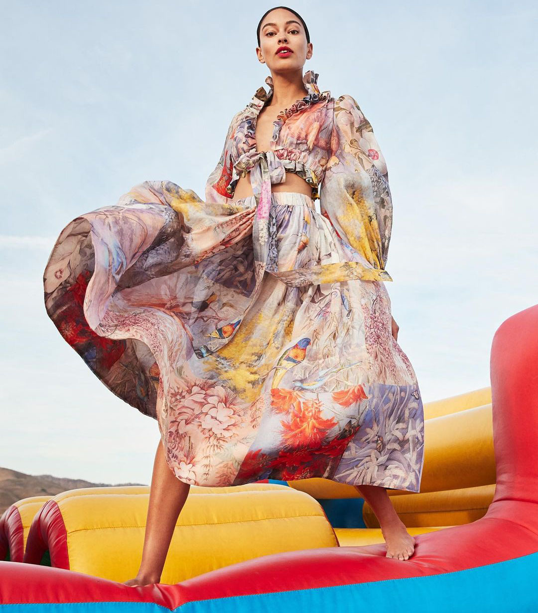 The Botanica Crop Bodice and Midi Skirt for Neiman Marcus.