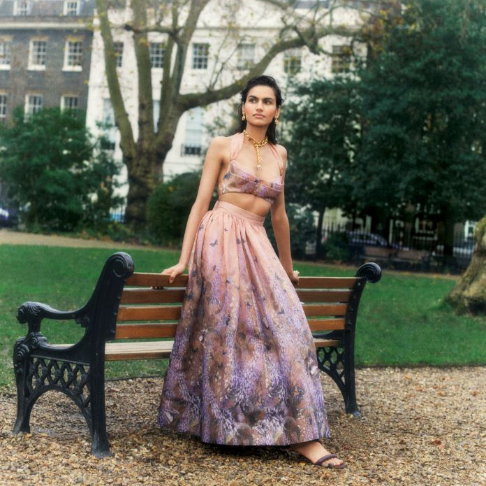 The Luminous Tie Bustier and Midi Skirt feature in Vogue India