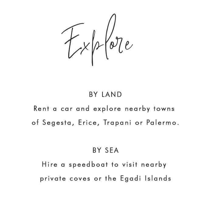 Explore Scopello by land or sea