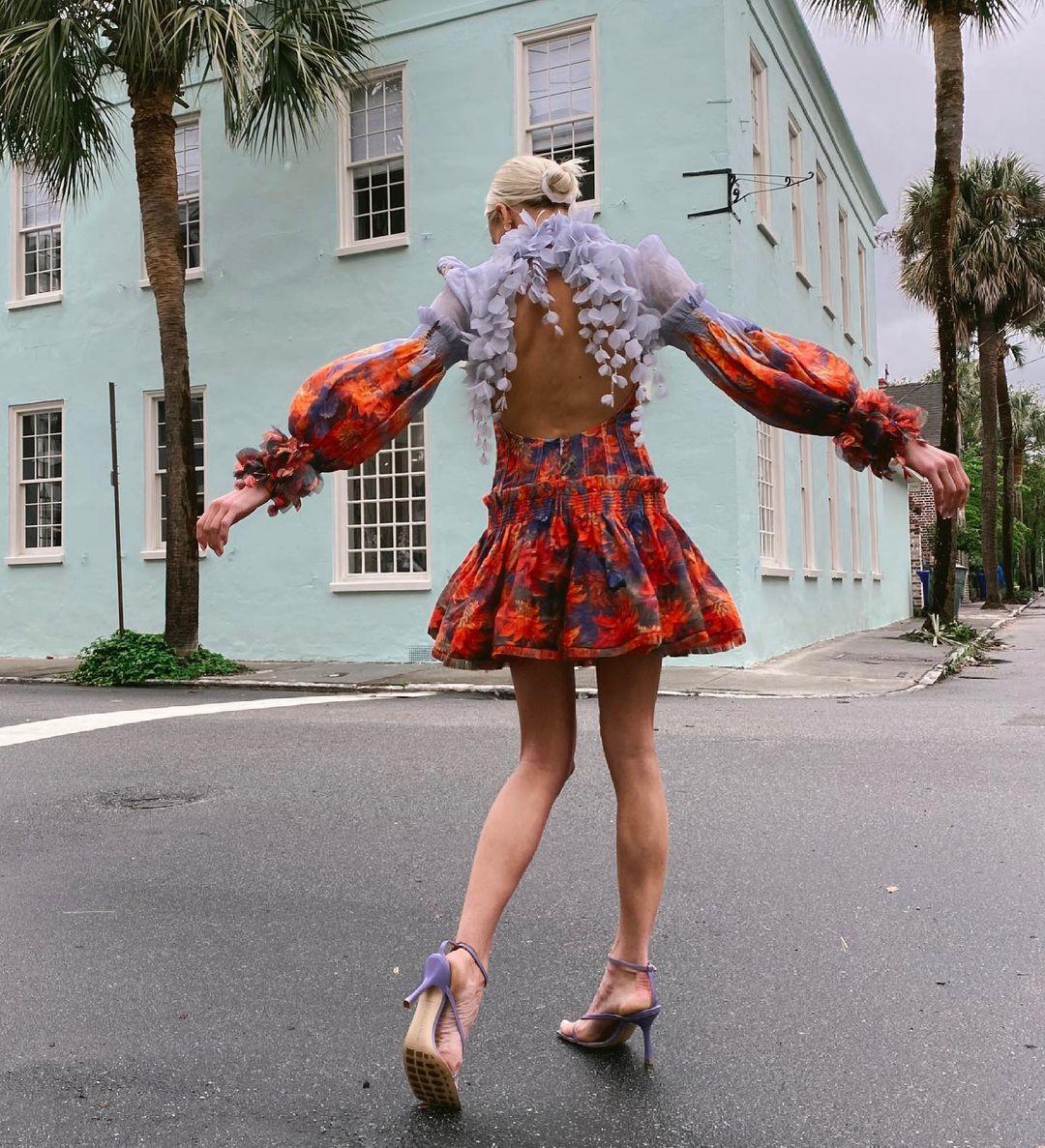 Nastia Liukin wears the Botanica Mini Dress