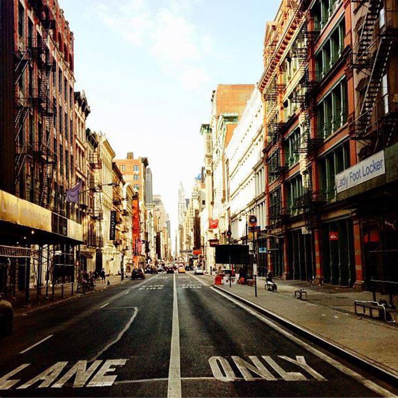 A quiet street in Soho
