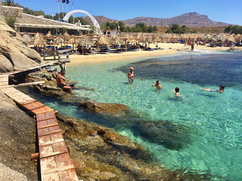 Agia Anna Beach, Kalafati, Mykonos. By Nicky Zimmermann, July 2016