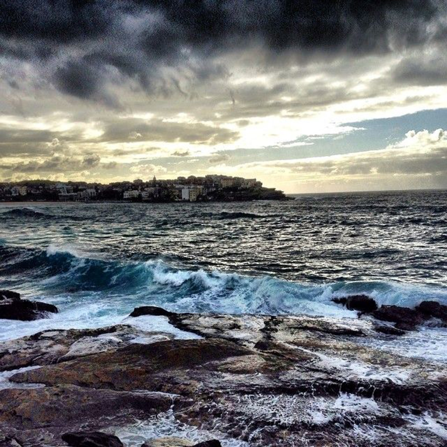 Storm clouds over Bondi in Autumn