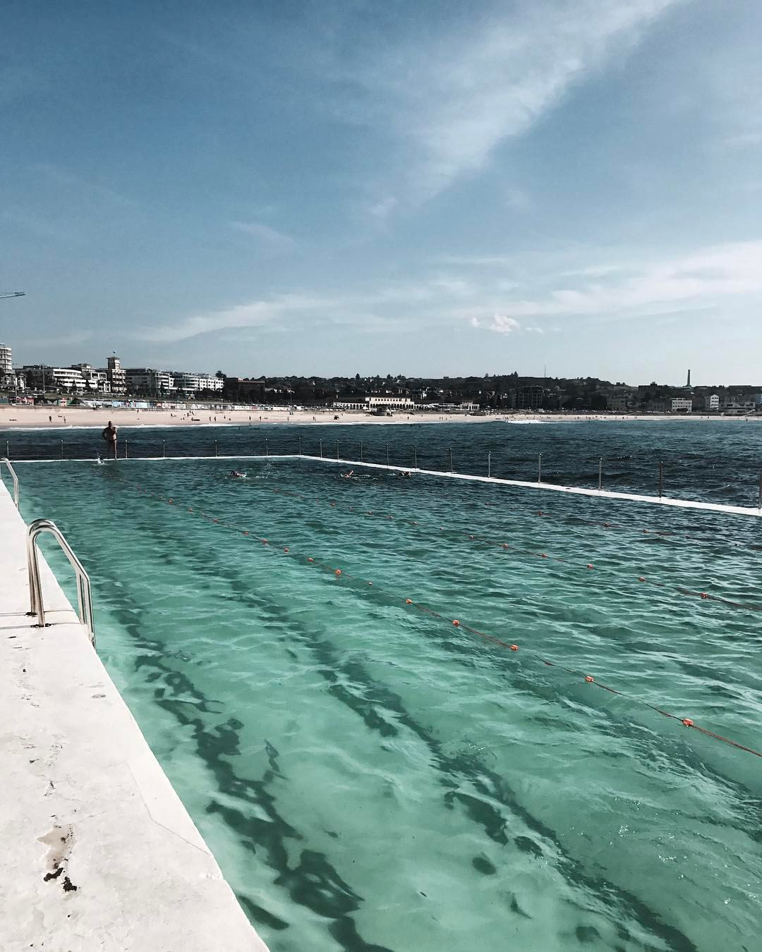 A view of Bondi Beach from the Iceberg's lap pool, May 2017