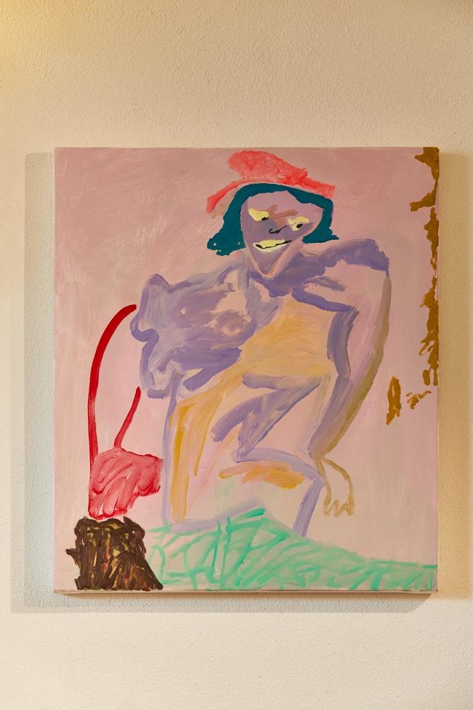 'Stoop Swoop (mine is yours)' painting in Capri