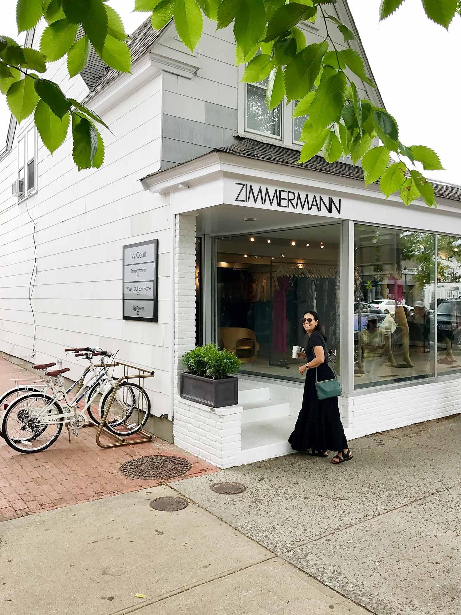 Nicky Zimmermann outside out East Hampton store, June 2017