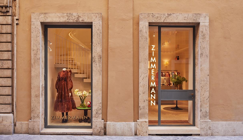 Zimmermann Rome Boutique street view