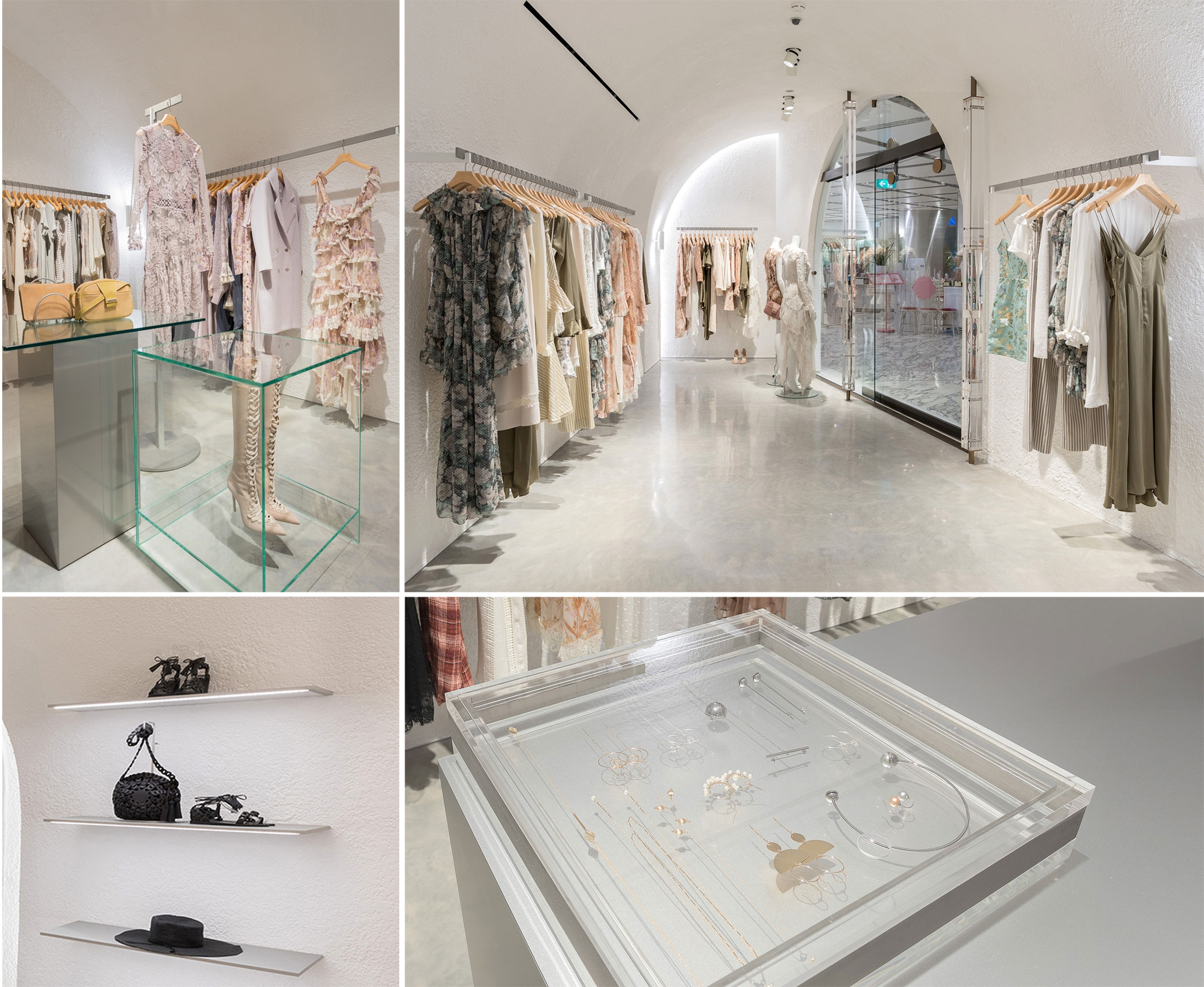 A compilation of images of the interior of our modern Sydney CBD Store