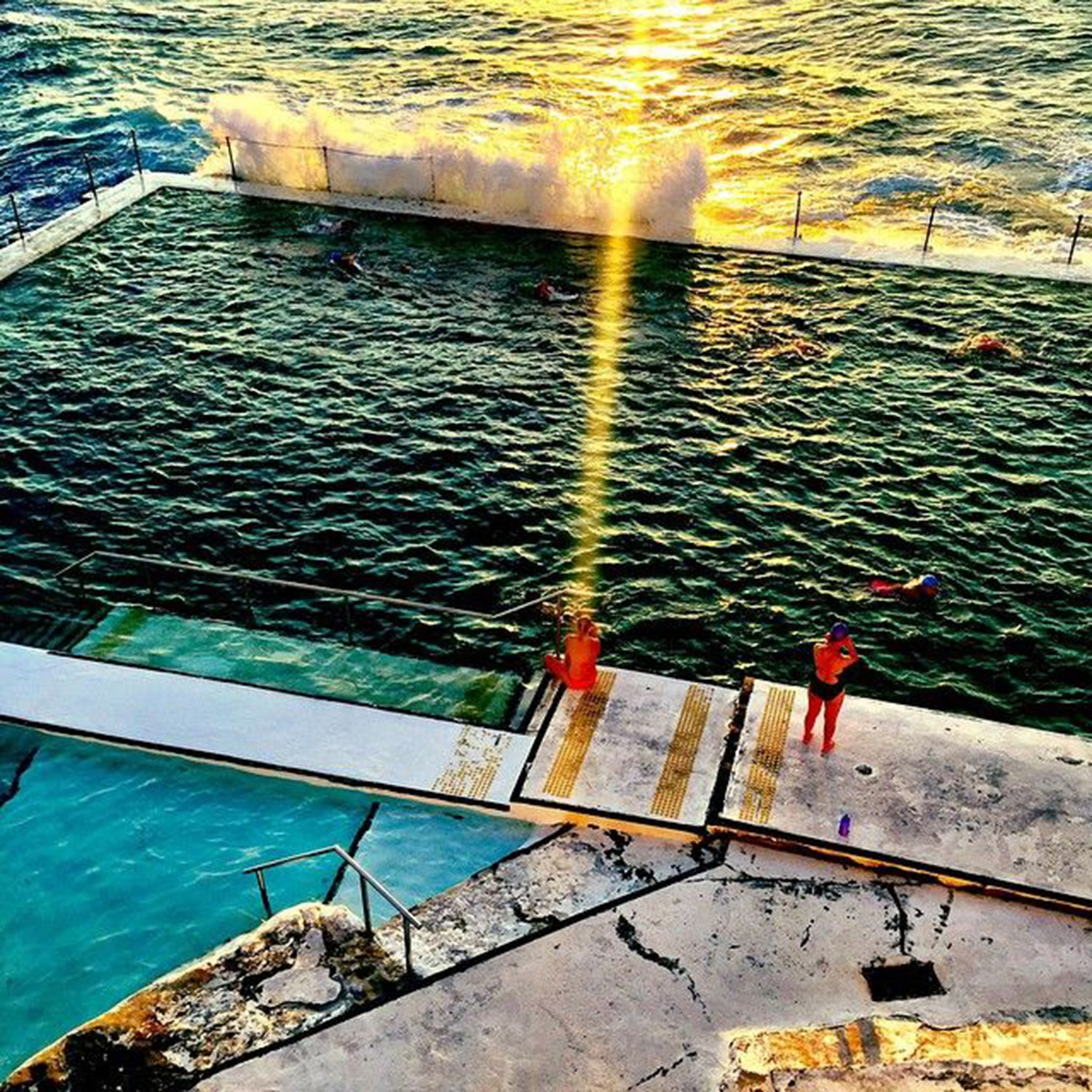 The deep blue water at South Bondi