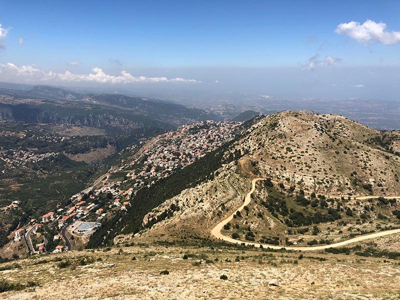 The view of hilltop village, Ehden