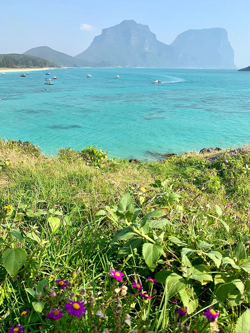 Views of the ocean Lord Howe Island, off the coast of Australia