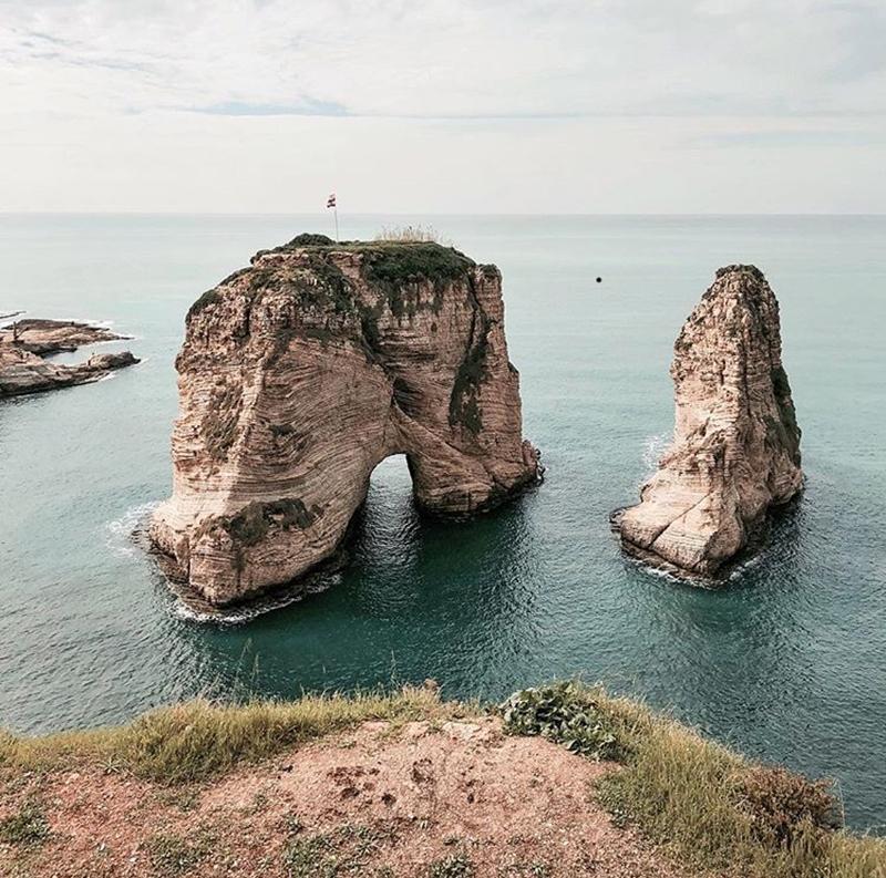 Pigeon Rocks off Raouche, Beirut
