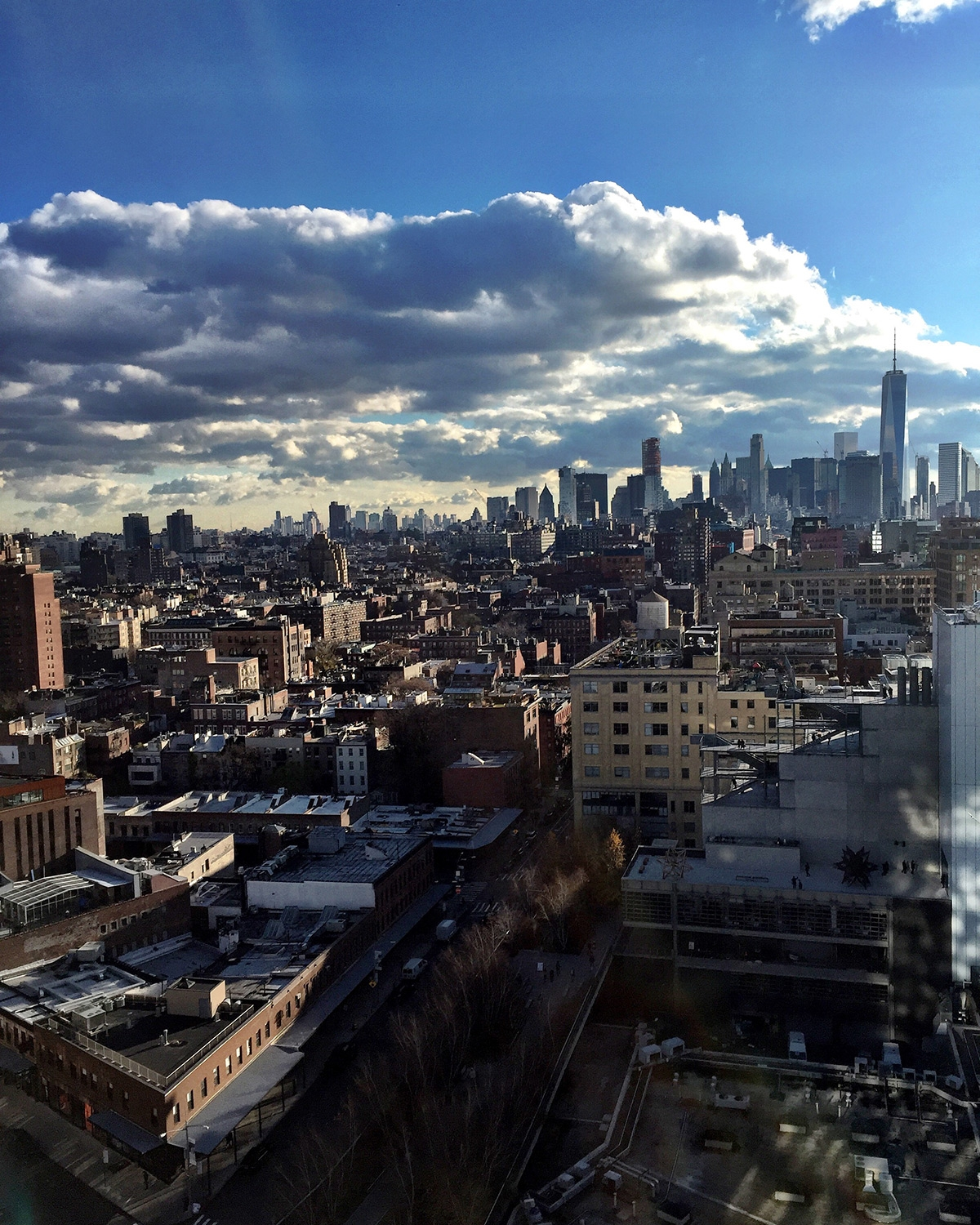 New York buildings and skyscrapers stretch as far as the eye-can-see