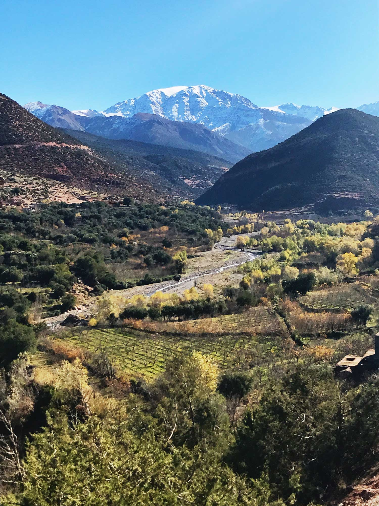 The road into the Atlas Mountains