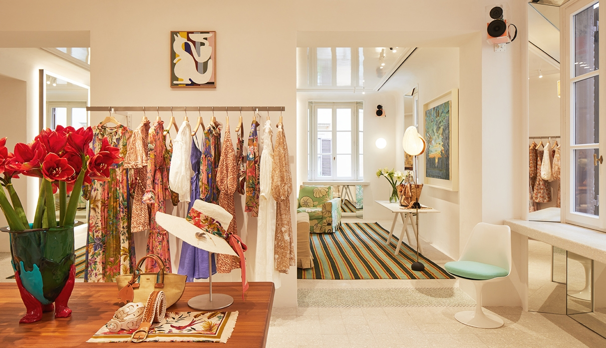 Inside our new boutique, Rome