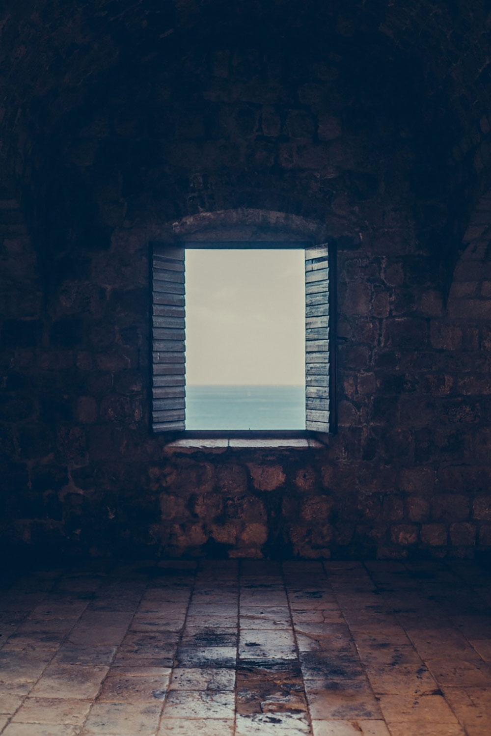 Looking through a window to the Adriatic Sea – Dubrovnik