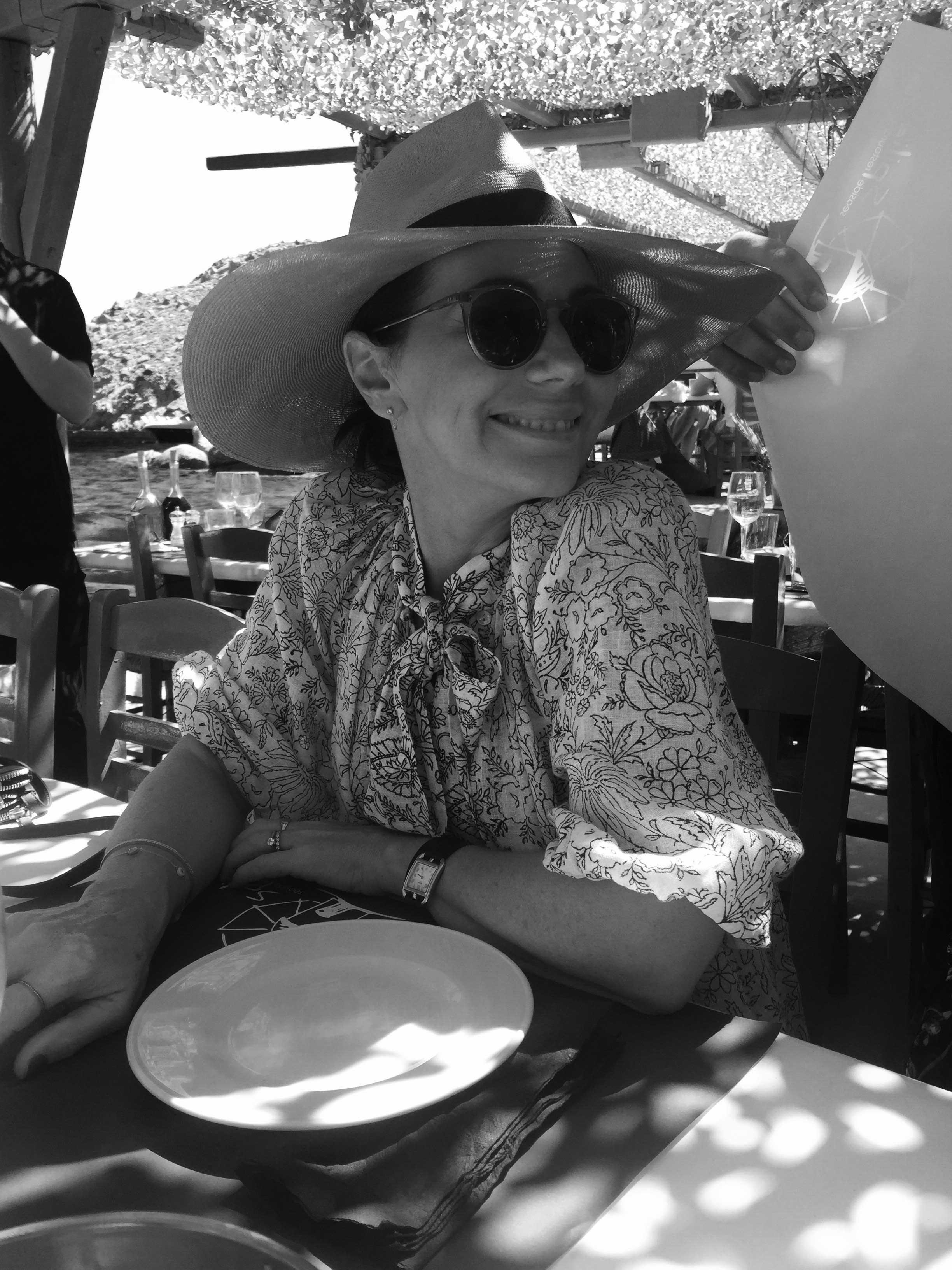 Nicky Zimmermann enjoying lunch at Spilia. July 2016