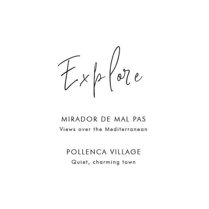 Where to Explore in Mallorca: Mirador De Mal Pas – Views over the Mediterranean; Pollenca Village – Quiet, charming town