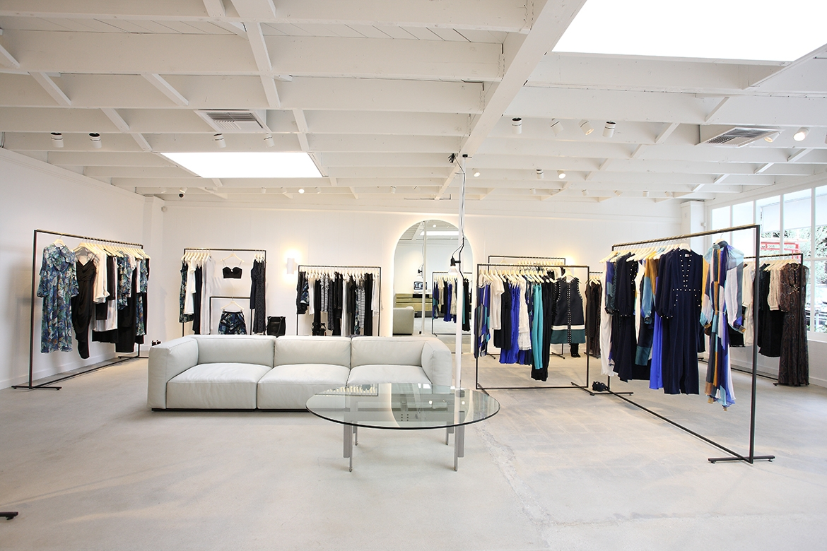 The minimalist interior of our Melrose Place store