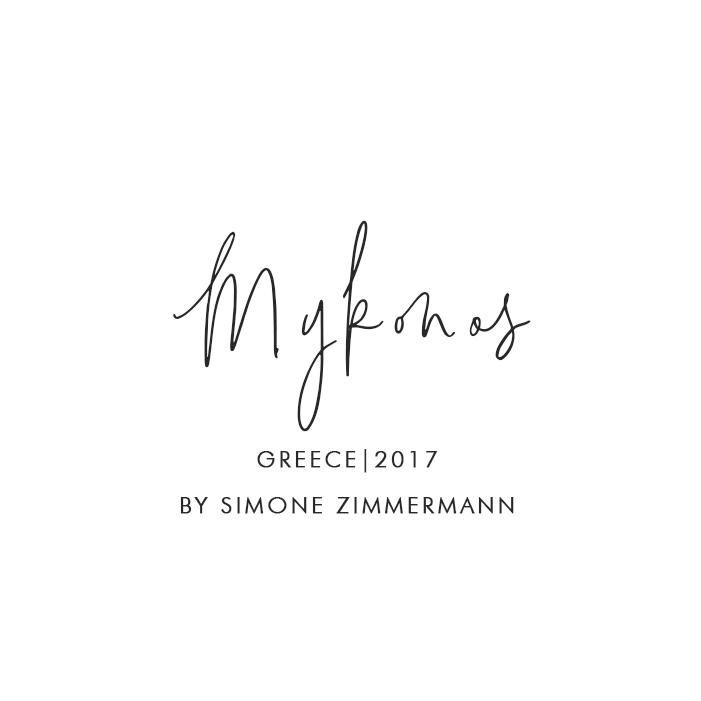 Mykonos, Greece – 2016+. By Simone Zimmermann